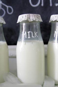 "DIY ""Vintage"" Milk Bottles"