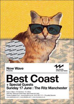 Best Coast Gig Poster - Poster Design
