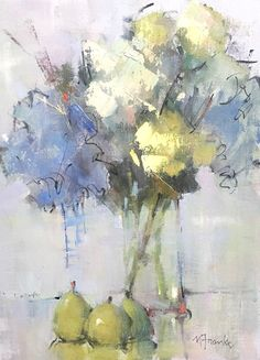 Lyrical Passage, 16 x 12 by Nancy Franke Oil ~ 16 x 12 Still Life Flowers, Guache, Still Life Art, Abstract Flowers, Abstract Flower Paintings, Arte Floral, Figure Painting, Painting Inspiration, Flower Art