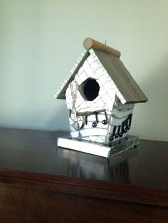 Mosaic bird house