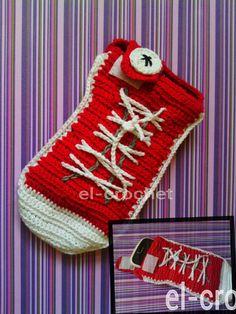 Crochet converse phone case