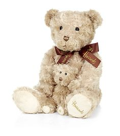 Harrods Bear With Baby Bear. Shop Harrods souvenirs online at Harrods.com & earn reward points. Luxury shopping with Free Returns on UK orders.