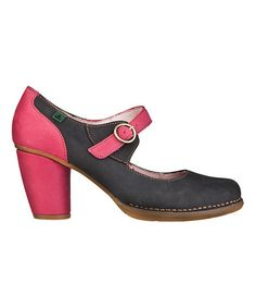 Another great find on #zulily! Acai & Pink Colibri Leather Pump by El Naturalista #zulilyfinds