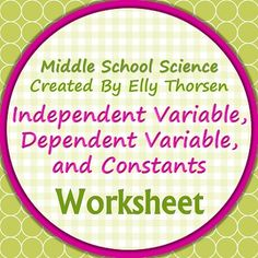 A worksheet for students to practice the differences between variables