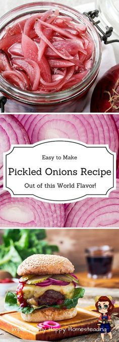 Easy Out of the World Pickled Onions Recipe! Delicious and no canning required.