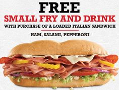 Free Small Fry and Drink with Purchase at Arby's