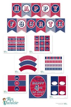 4th of July Free Printables for your patriotic party
