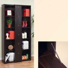 Hokku Designs Gilmore Bookcase / Display Cabinet in Red Cocoa Brown | AllModern