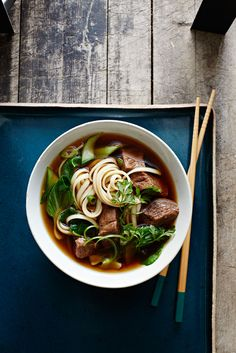 Asian Beef Noodle Soup #slowcooker #soup #comfortfood