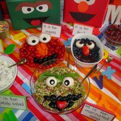 Sesame Street food- I'll make Kermit, Animal and Gonzo