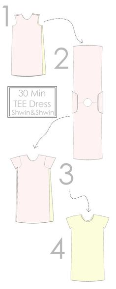 30 Min Tee Shirt Dress || Free PDF Pattern || Shwin&Shwin