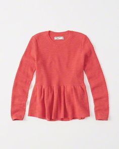 kids Ruffle Hem Sweater