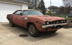 Have something similar for sale? List it here on Barn Finds! Junkyard Cars, Plymouth Muscle Cars, Air Max Day, Rusty Cars, Plymouth Barracuda, Abandoned Cars, Barn Finds, Dodge Charger, Old Cars