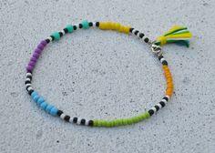 #foot #bracelet #tribal #tassel #beads #summer #color