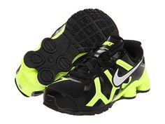 Nike Kids Nike Shox Turbo 13 (Toddler/Youth) Black/Volt/Metallic Silver - Free Shipping BOTH Ways