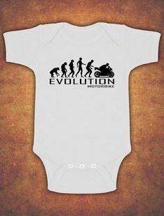 £3.99 GBP - Evolution Of Motorbike Motorcycle Rider Baby Kids Present Grow Body Suit Vest #ebay #Home & Garden