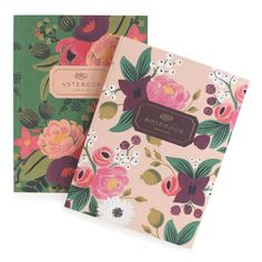 Set of 2 floral notebooks with linen covers, and foil stamp from Rifle Paper Co. Vintage Blossoms Notebooks by Rifle Paper Co. Home & Gifts - Gifts - Stationery & Office Texas Pocket Notebook, Journal Notebook, Journals, Writing Notebook, Sakura Card Captor, Beautiful Notebooks, Little Red Hen, Vellum Paper, Pottery Barn Teen