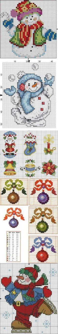 Discover thousands of images about embroidery scheme snowmen, Santa, Christmas trees, toys . Xmas Cross Stitch, Cross Stitch Needles, Counted Cross Stitch Patterns, Cross Stitch Charts, Cross Stitch Designs, Cross Stitching, Cross Stitch Embroidery, Hand Embroidery, Embroidery Designs