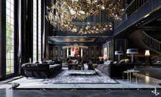 Mansion Interior, Luxury Homes Interior, Interior Exterior, Modern Villa Design, Hotel Room Design, Home Building Design, Modern Mansion, Luxury Homes Dream Houses, Dream Rooms