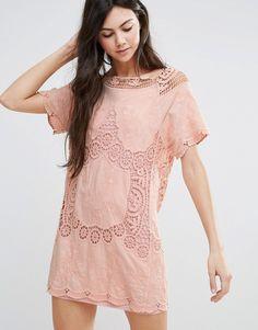 Endless Rose Short Sleeve Shift Dress