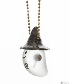Q-Pot Trick Ghost eats Lollipop candy Necklace