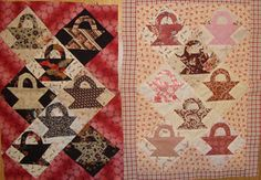 Baskets-appliqued and pieced baskets