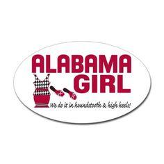 Alabama Girl Sticker (Oval)