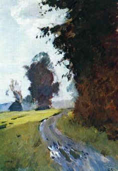 Evening Path 1882 Art Print by Levitan Isaac. All prints are professionally printed, packaged, and shipped within 3 - 4 business days. Impressionist Landscape, Abstract Landscape, Landscape Paintings, Oil Paintings, Water Margin, Russian Landscape, Landscape Plans, Russian Art, Klimt