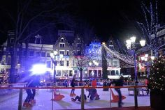 In the middle of the square in Amsterdam; a skating rink! Fall, slide, laugh, and skating along on the middle of Leidseplein. Did you not bring your skates? No problem! Admission and skate rental is €7.50. http://iceamsterdam.nl/en/home