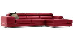 Shop Encore Red Leather Sofa and other modern and contemporary home and office furniture. Browse our selection of Sectional from Zuri Furniture.