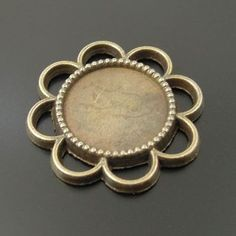 Antiqued Bronze Tone Round Charm Cameo Setting (Inner Size:14*14mm) 20pcs