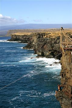 South Point, Hawaii. I stood on that wood thing last year for a picture with my husband. Southern most point of the U.S. ( pretty amazing!)