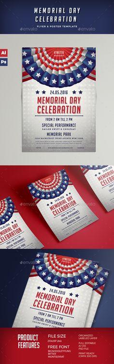 memorial day flyer design