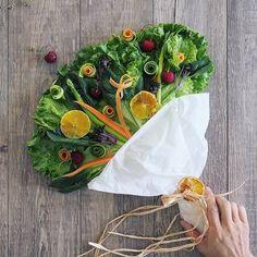 お野菜がたっぷりいただけるところもブーケサラダの魅力。使用する野菜も特に決まりがなく、お好みの野菜でOKなので組み合わせも自由自在。