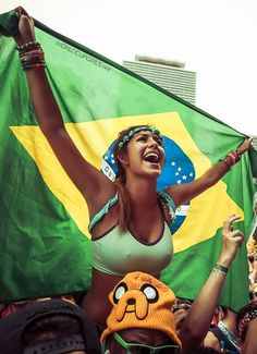 It's a Brazilian summer at the WorldCup 2014 #WorldCup #Brazil #soccer