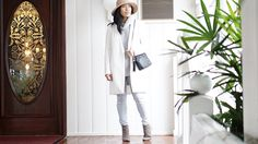 Winter Style - White Coat #streetstyle #winterlayering #outfits #winteroutfit