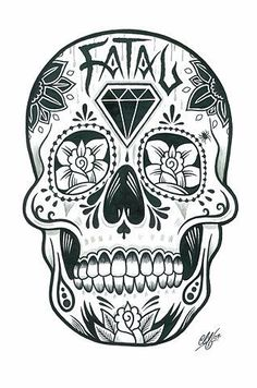 Sugar Skull By Brigitte