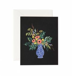 Rifle Paper Co. - Vase Study No. 1 - Available As A Single Folded Card Or Boxed Set Of 8