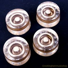 4 LES PAUL ELECTRIC GUITAR SPEED KNOBS GOLD