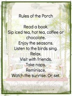 These are the reasons why I would love a porch. Porches make everything better. Home Porch, Decks And Porches, Front Porches, Country Porches, Southern Porches, Primitive Homes, Down South, Porch Decorating, Books To Read