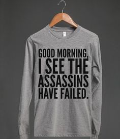 """Assassins"" = my 8, 7, & 5 y.o. little girls. I've maintained they've been trying to kill me for years."