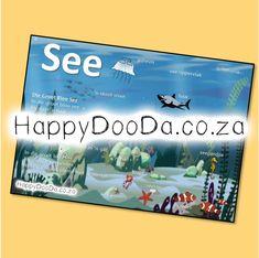 'n Tema muurkaart – See. Hierdie produk is in Afrikaans vir leerders 4-13 jaar. Home Schooling, Afrikaans, Hdd, Homeschool, Words, Afrikaans Language, Homeschooling