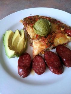 Vegetable Frittata with Smoked Gouda, Spinach Pesto and Hot Hungarian Kielbasa