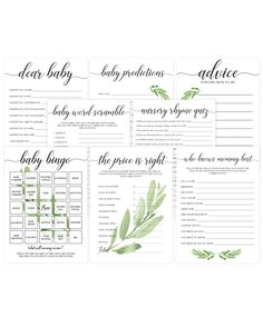 Cheap printable baby shower games by LittleSizzle