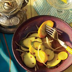 Spicy Squash Pickles | These summer squashes offer meatier flavor and texture than traditional cucumber pickles.