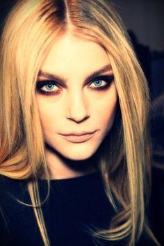 Blond with smokey eyes