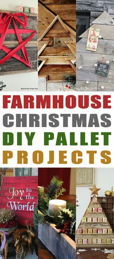 We are revving up for the Holiday Season so stay tune for tons of Holiday Posts in all different Styles!  Today we have a Fresh Collection of Farmhouse Christmas DIY Pallet Projects that you will absolutely love.  They will add a touch of rustic charm to your space and none of them are difficult DIY's!  …