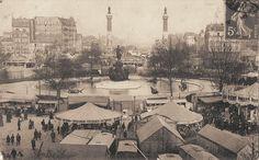 place de la Nation - Foire du Trône - Paris 11ème/12ème - Une vue générale des attractions de la Foire du Trône, vers 1900.
