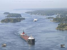 Brockville Narrows photo by Ian Coristine Saint Lawrence River, St Lawrence, Beautiful Places In The World, Beautiful Scenery, Saint Laurent, Thousand Islands, America And Canada, Great Lakes, Archipelago