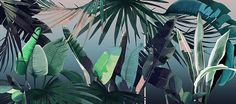 All 3 illustrations were design and drawn for Area Environments. All are available as a wallpapers here.   Tropical Forest…